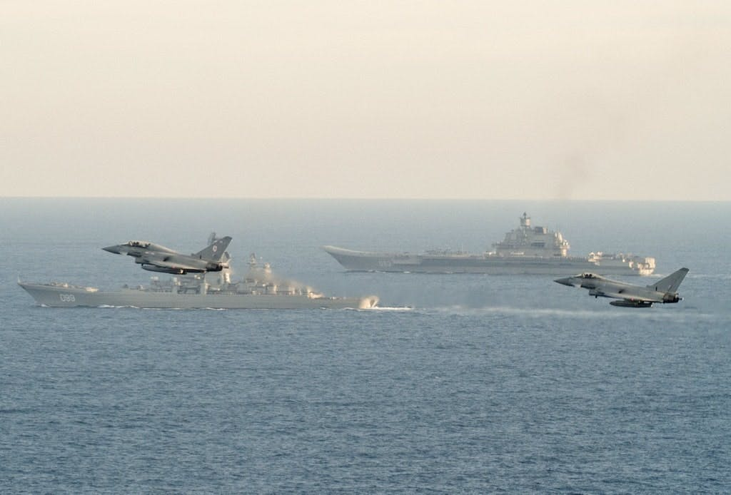 Royal Navy and RAF escort Russian carrier group