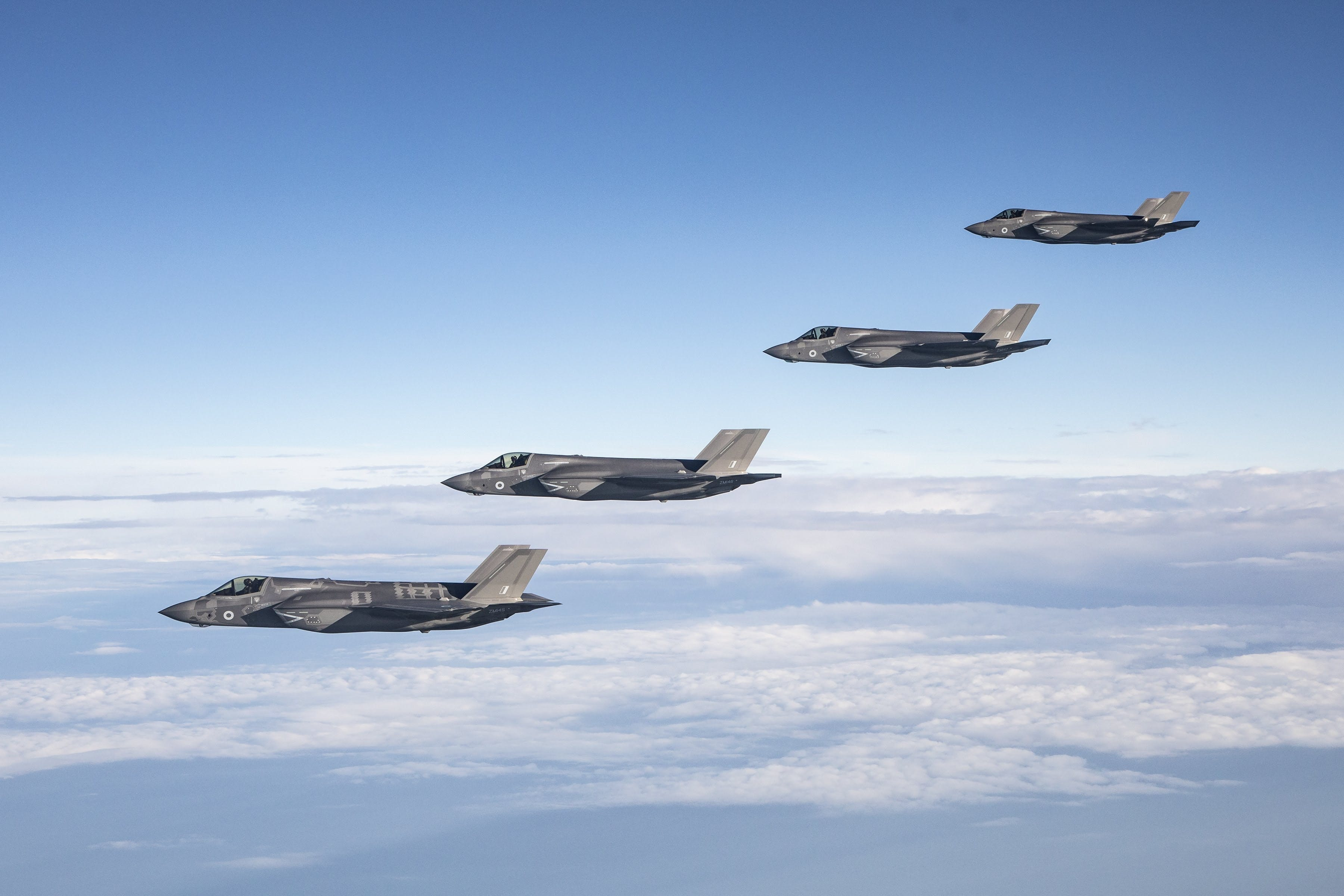 Britain's most advanced jets touch down on home soil