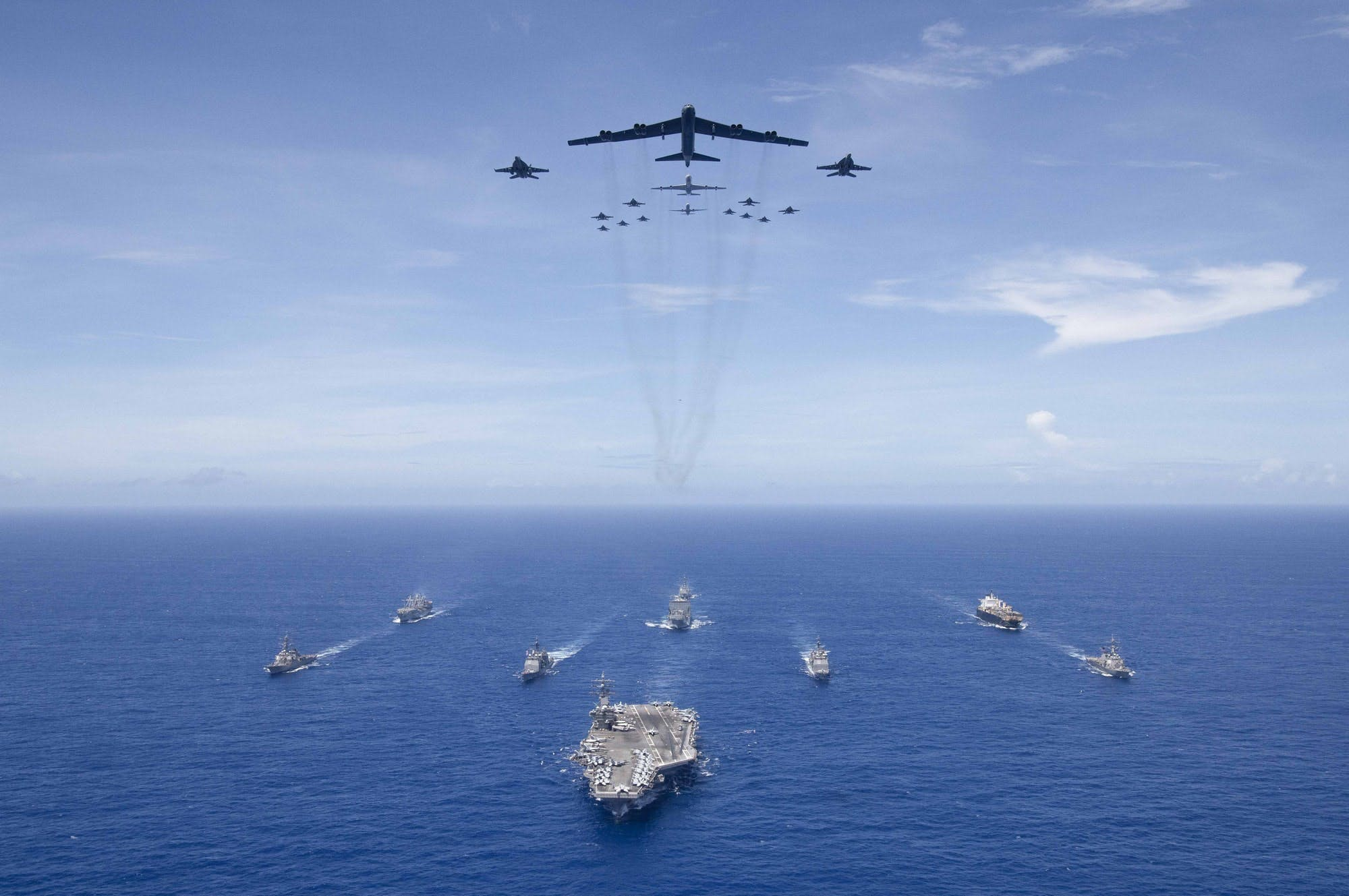 US Forces conduct massive exercise 'Valiant Shield' in the