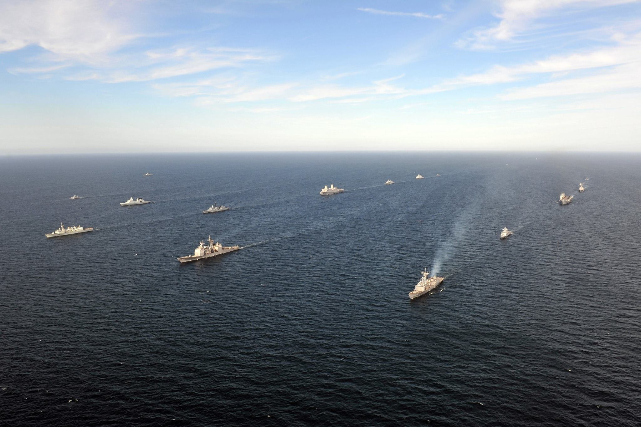 NATO and allied vessels underway during 'BALTOPS 2015' in the Baltic Sea