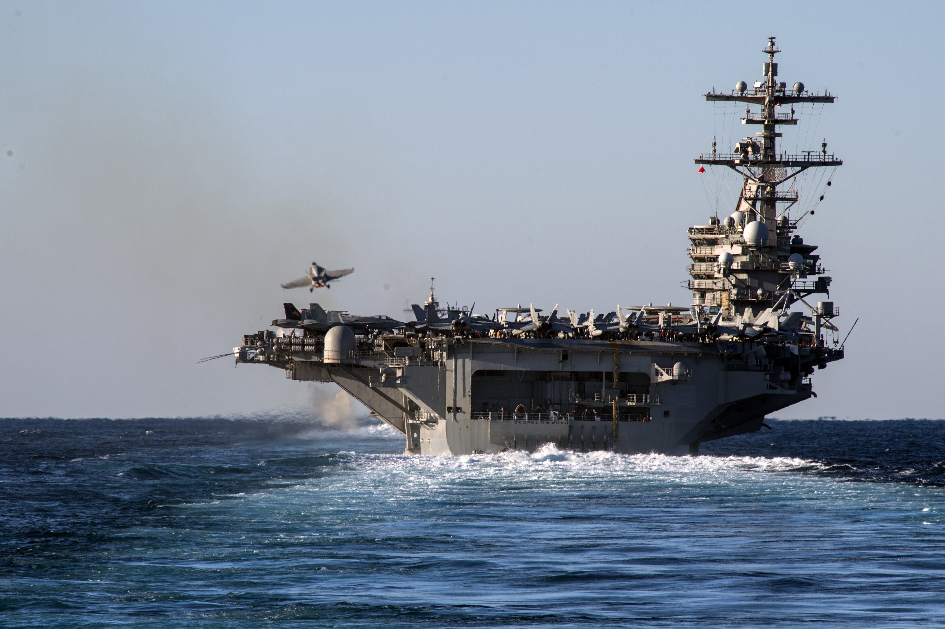 Supercarrier Uss George H W Bush Arrives In Israel