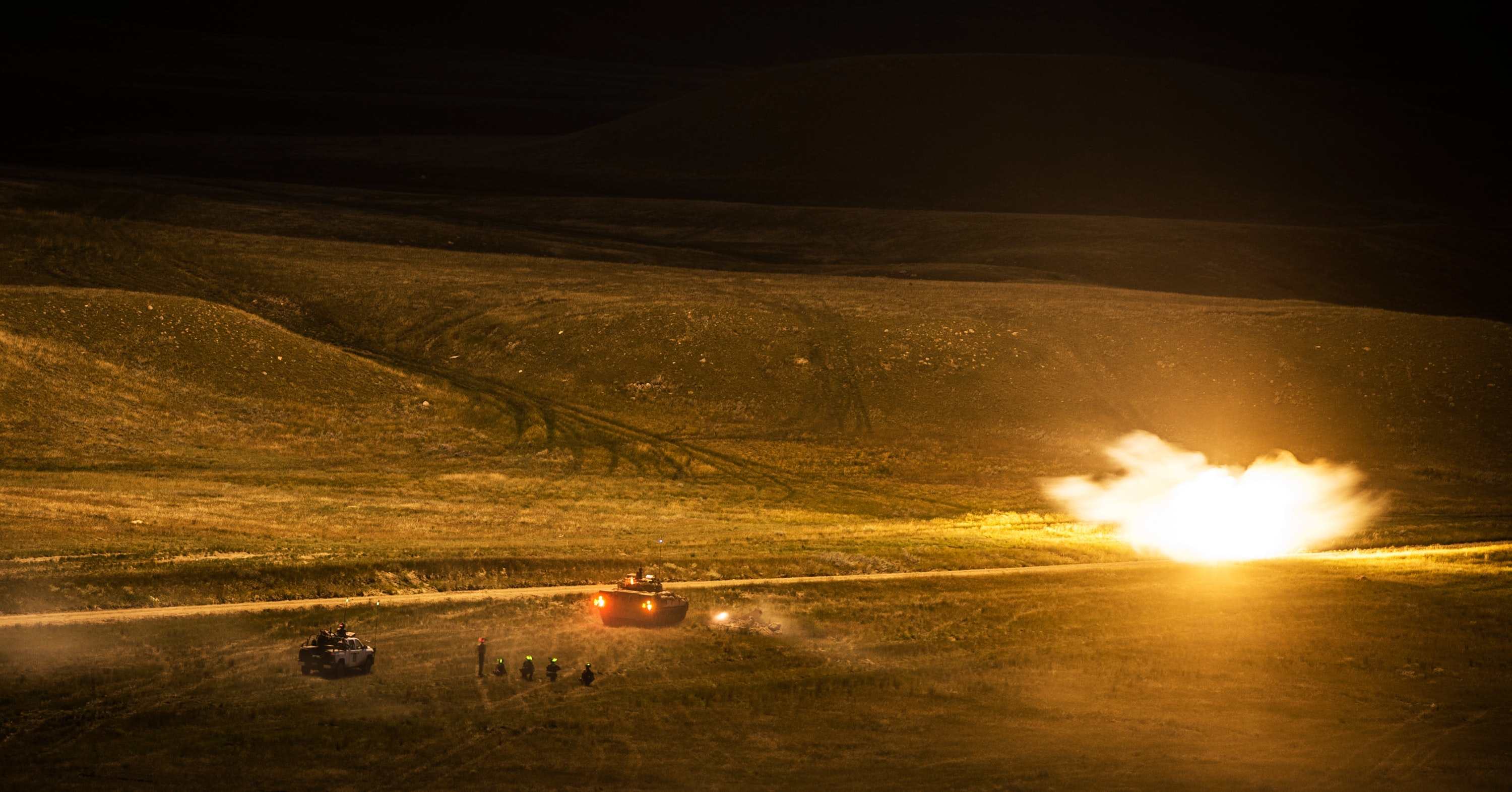 The Queen's Royal Hussars (QRH) Battlegroup during Prairie Storm 3 at BATUS.