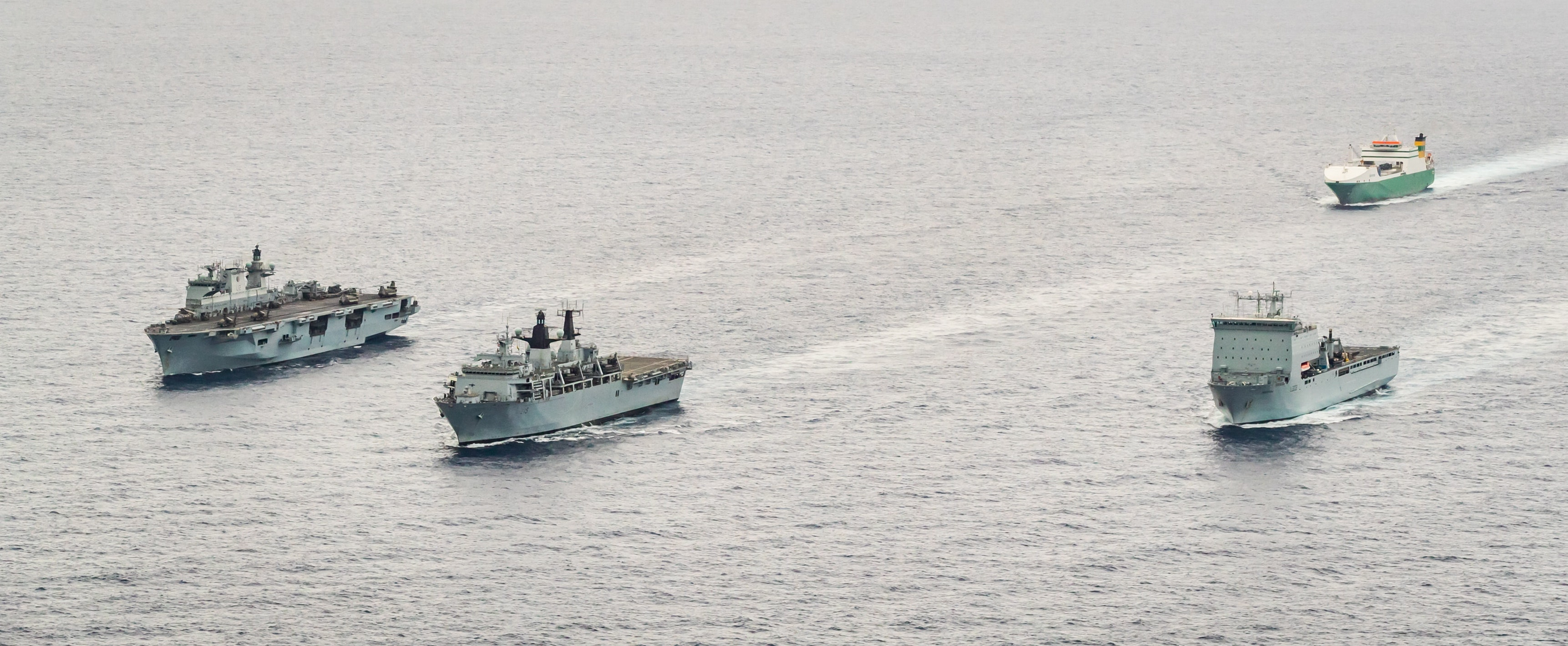 Sailors and Royal Marines have been in action on land, in the air and at sea, during a joint exercise with Albania.