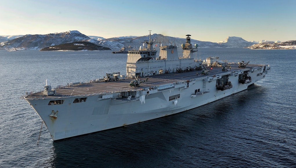 HMS Ocean in Norway