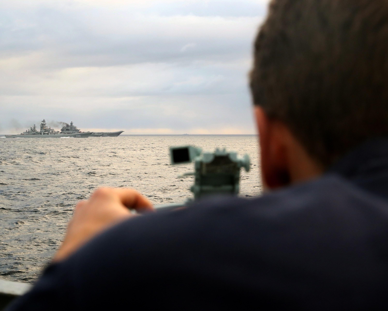 HMS RICHMOND ESCORTS RUSSIAN CARRIER TASK GROUP