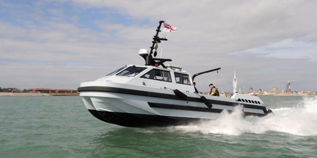 A Royal Navy Hazard Boat