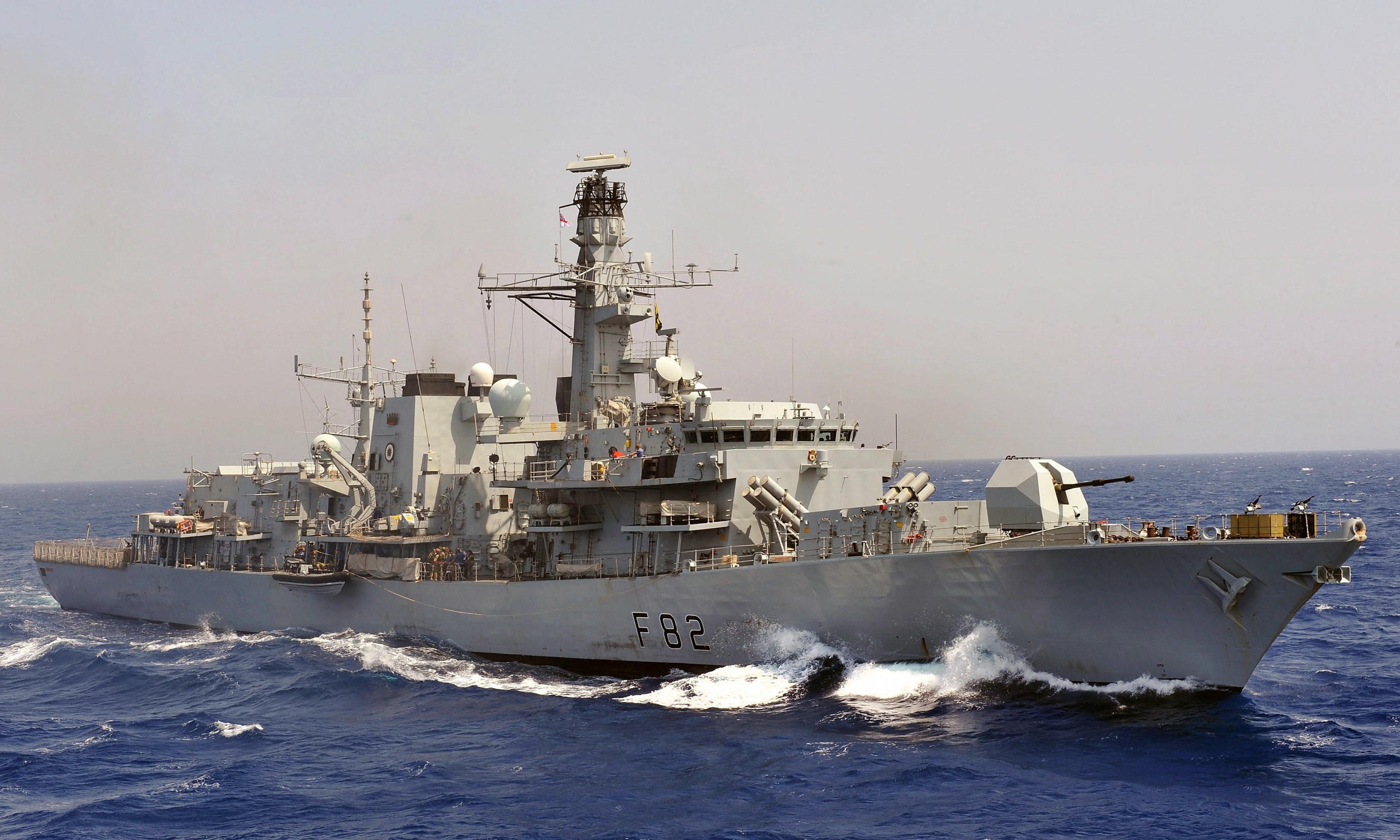 Royal Navy Type 23 frigate HMS Somerset is pictured during counter piracy operations in the Indian Ocean. Photo: LA(Phot) Abbie Gadd/MOD [OGL (http://www.nationalarchives.gov.uk/doc/open-government-licence/version/1/)], via Wikimedia Commons.