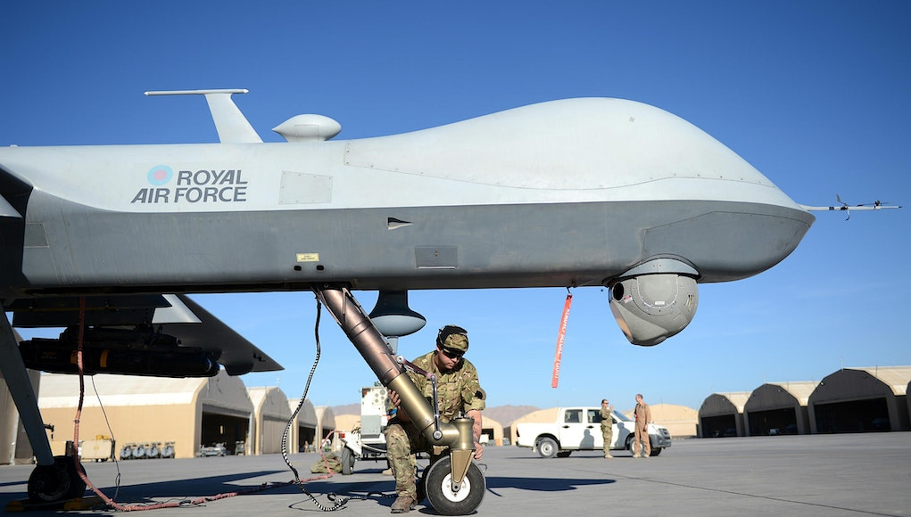 Reaper Unmanned Aircraft Destroys Islamic State Drone
