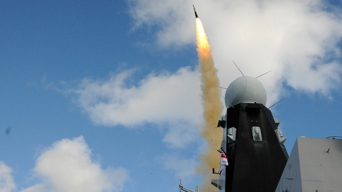 The Sea Viper missile successfully intercepted its target Credit: RN Media and Comms