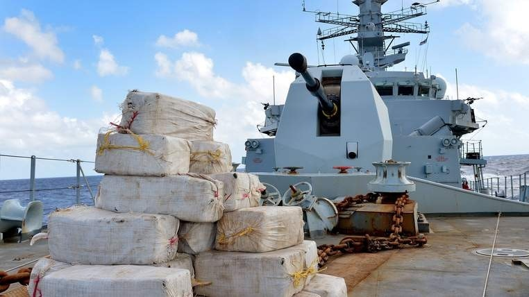 HMS Argyll has seized over 1,600kg in recent months.