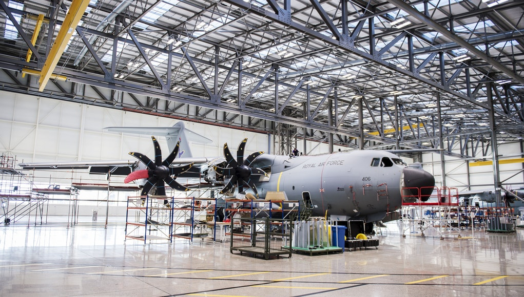 Atlas aircraft hangar opened by defence minister for Aircraft hanger designs