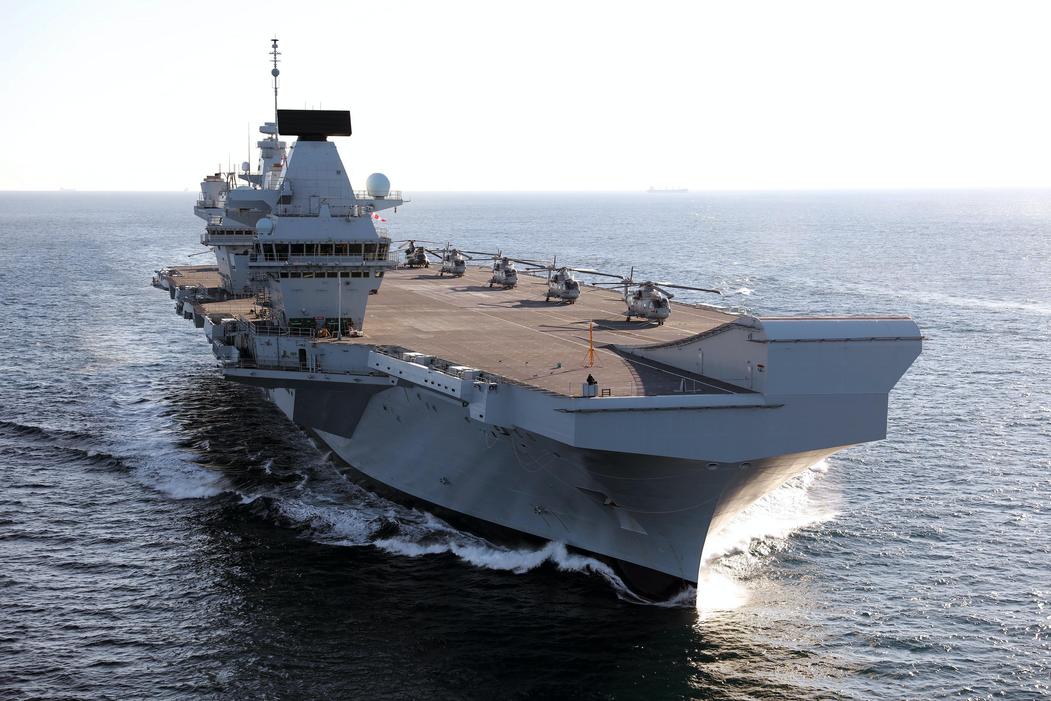 HMS QUEEN ELIZABETH ARRIVES IN GIBRALTAR FOR FIRST OVERSEAS VISIT