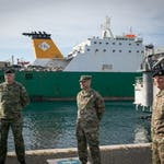 Combined seaport operation delivers U.S. vehicles, equipment to Croatia