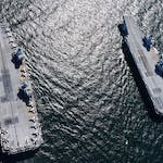 HMS Queen Elizabeth Meets up with HMS Prince of Wales