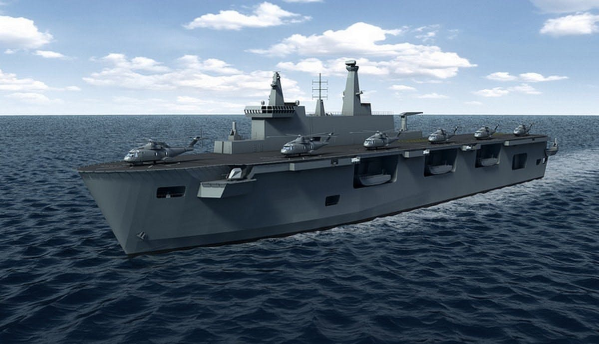 A landing helicopter dock design 'should replace' current amphibious  assault ships says Defence Committee