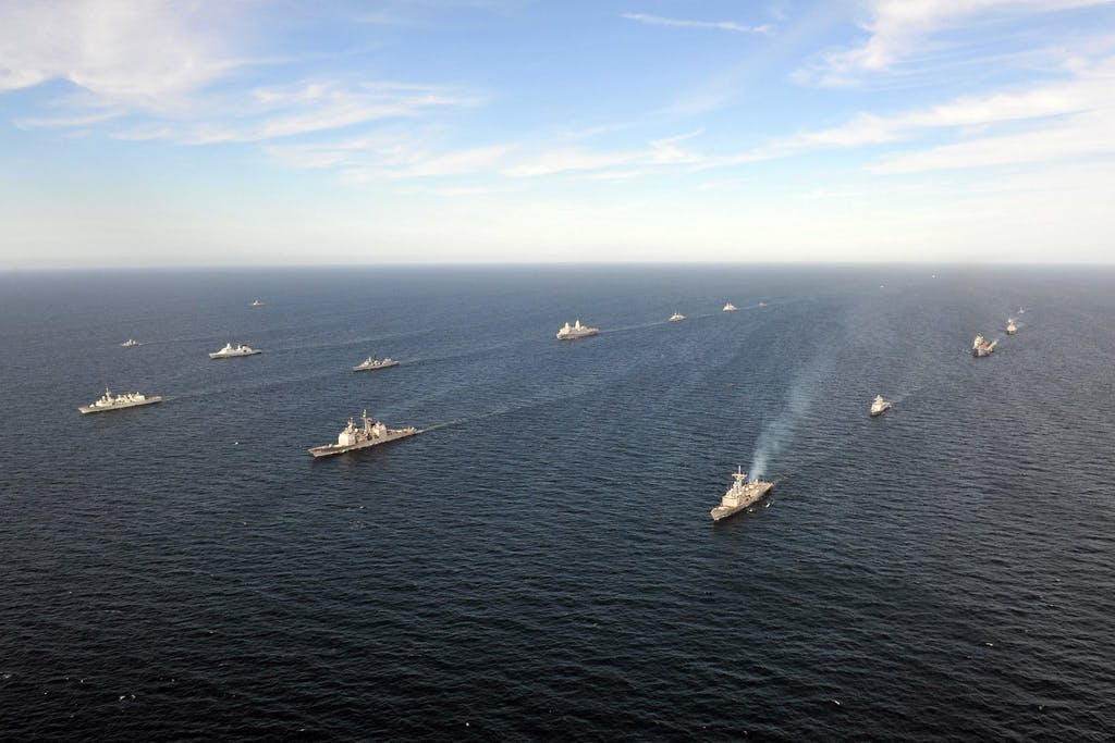 NATO and allied vessels underway during 'BALTOPS' in the Baltic Sea