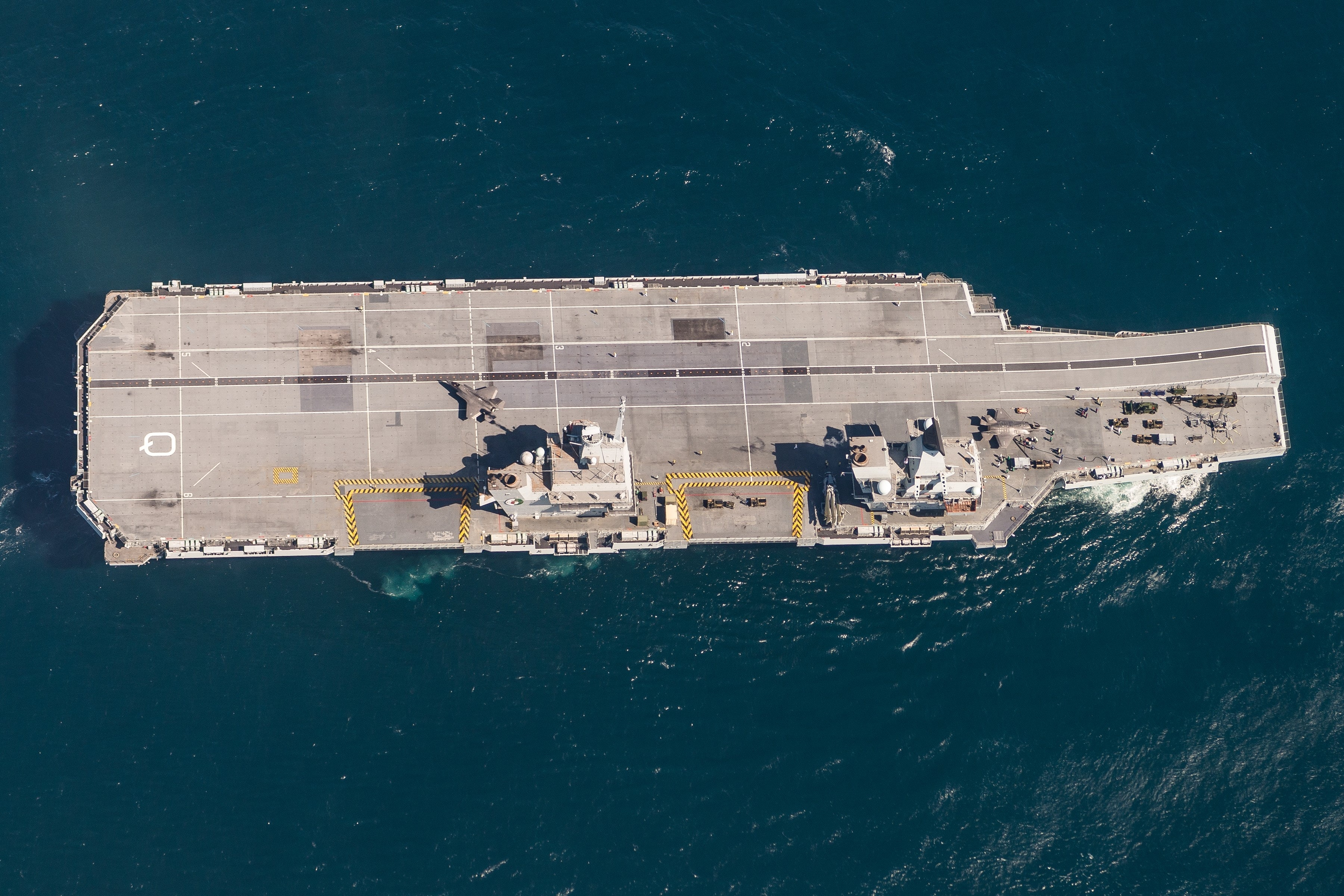 F-35B FIGHTER JETS LAND ONBOARD ROYAL NAVY AIRCRAFT CARRIER FOR FIRST TIME