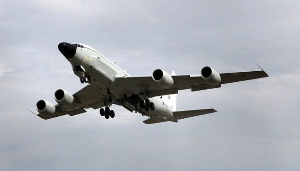 The first of the UK's new Rivet Joints lands at Waddington