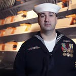 US Navy enlisted serviceman on exchange.