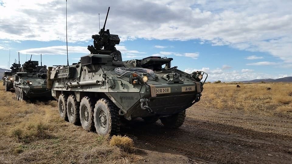 Stryker is a family of eight-wheel-drive combat vehicles, transportable in a C-130.