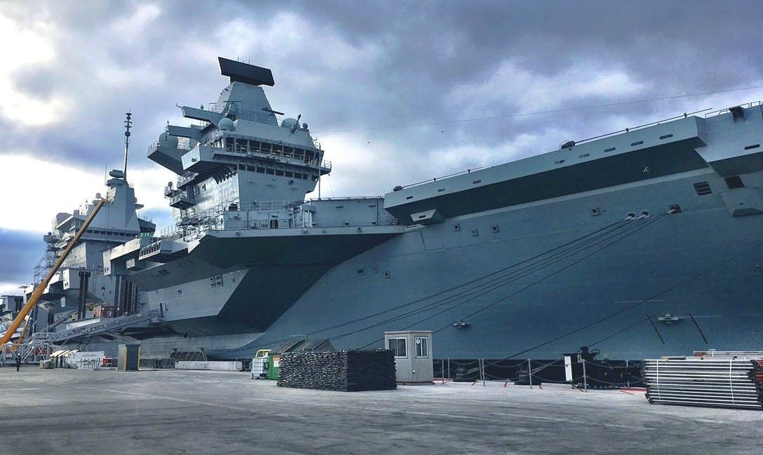 HMS Queen Elizabeth 'taking on water' due to propeller shaft seal issue