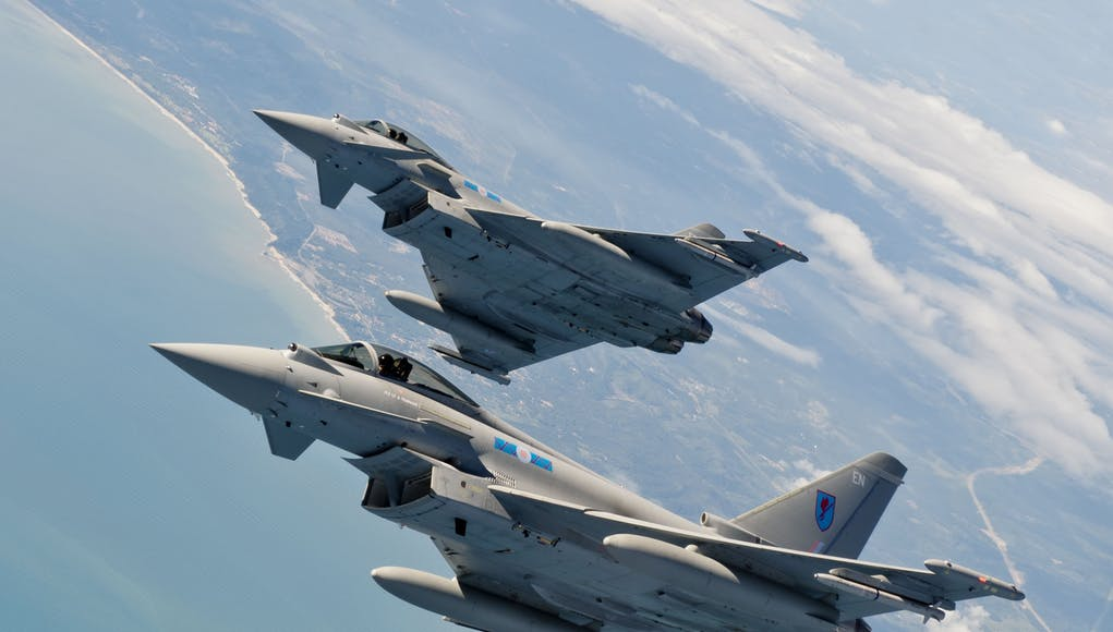 Typhoon jets scrambled to deal with 'incident' over the Channel