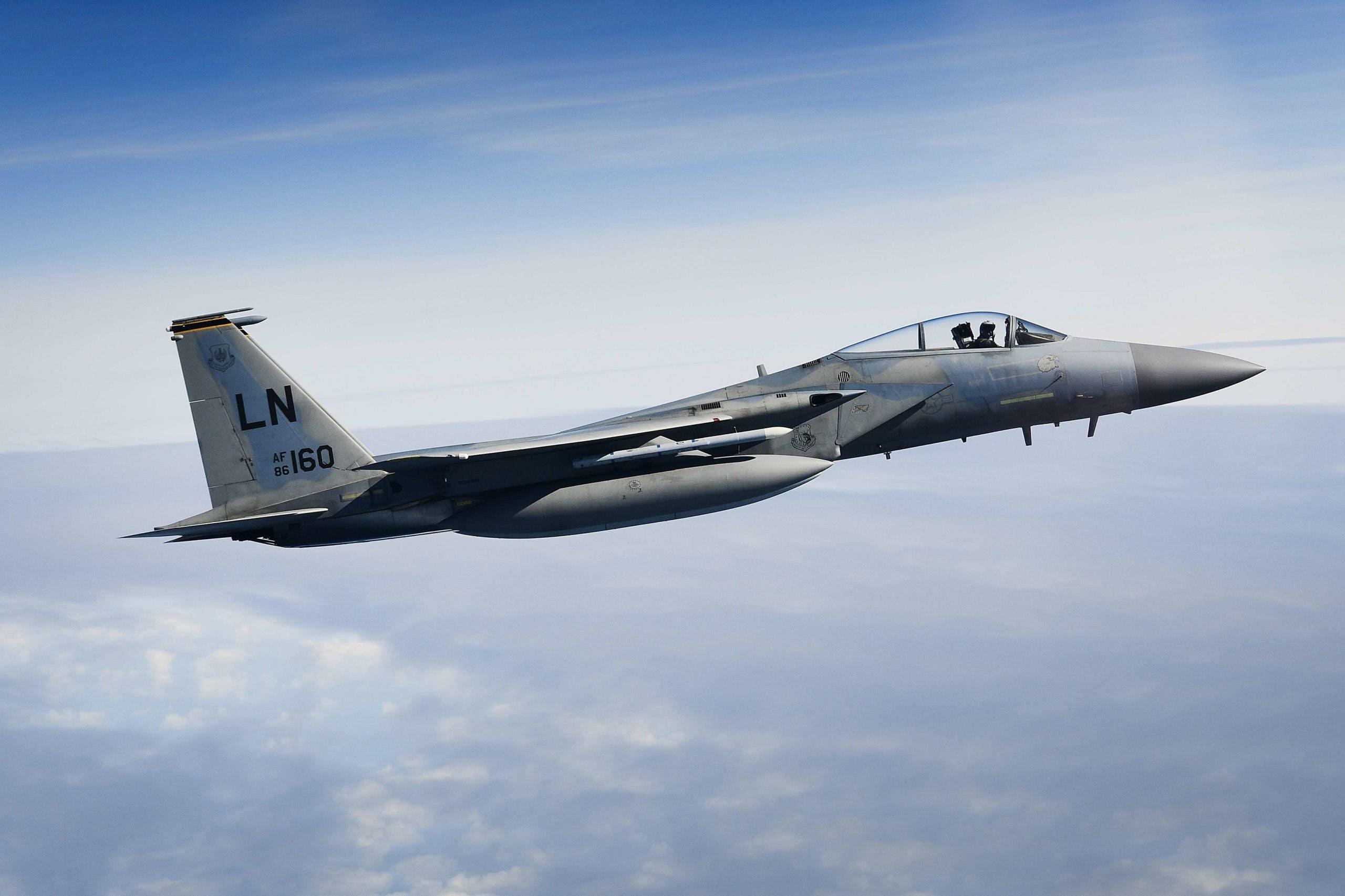 American F-15 crashes in North Sea