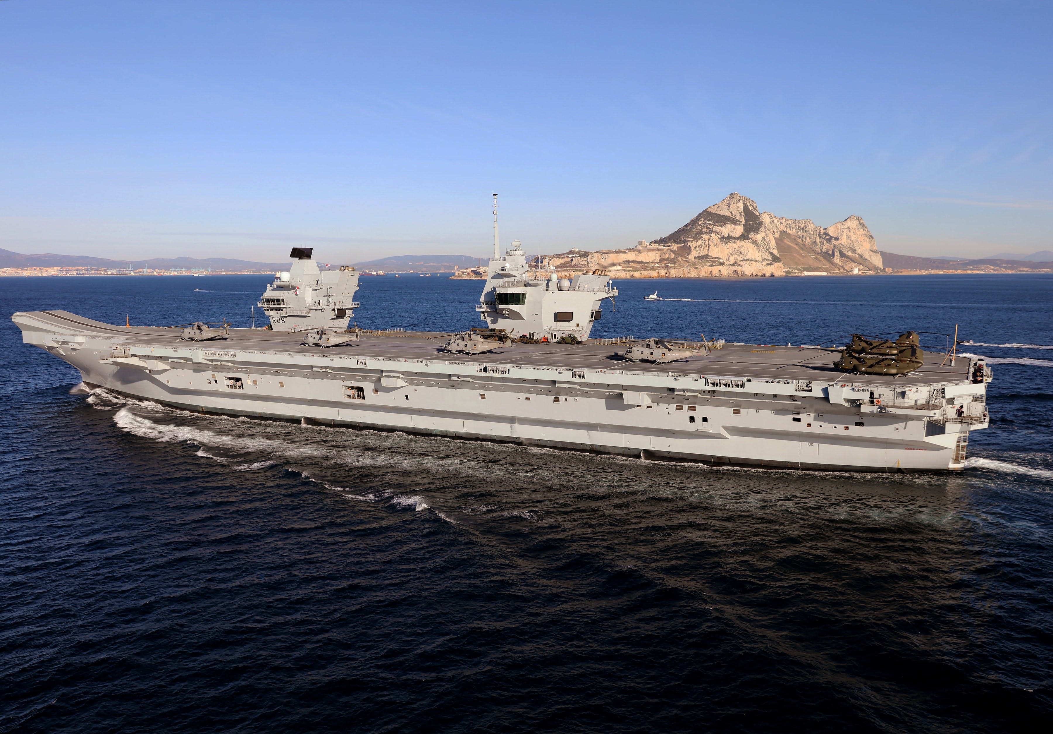 HMS QUEEN ELIZABETH ARRIVES IN GIBRALTAR FOR FIRST OVERSEAS VISIT