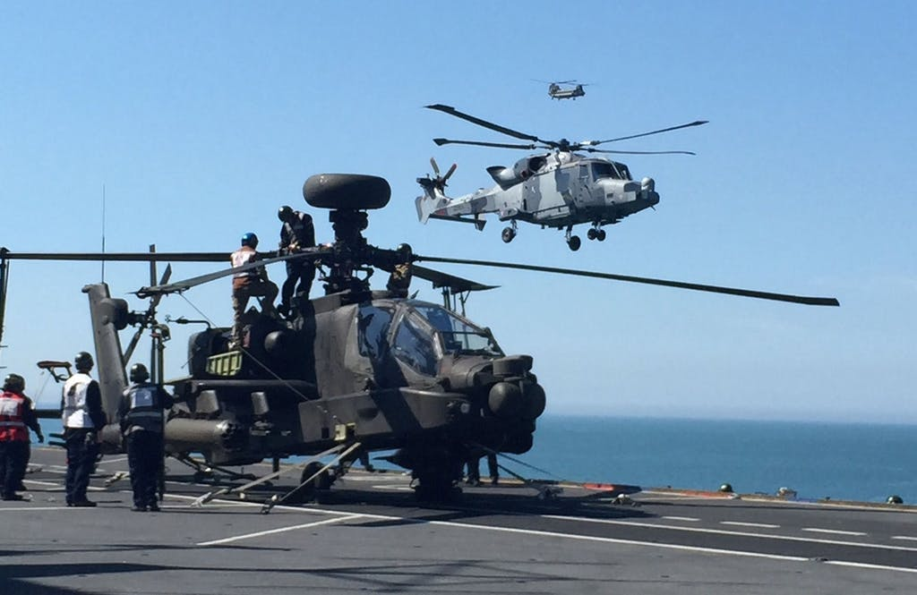 Wildcat arrives on HMS Ocean