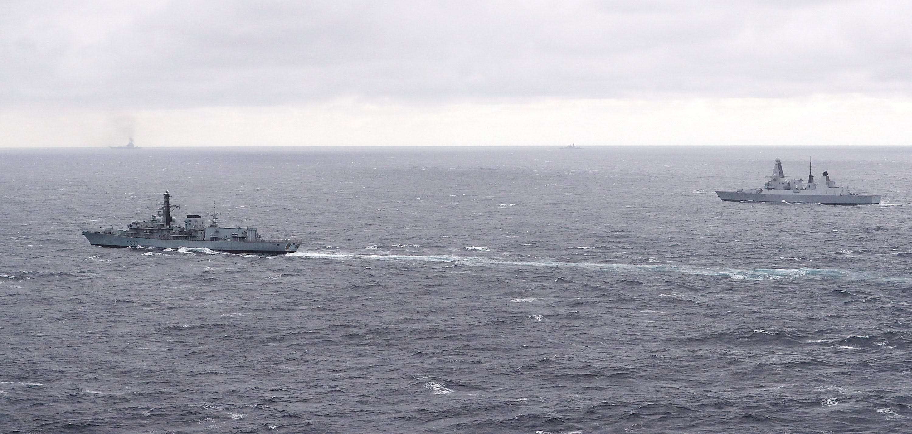 HMS DUNCAN ESCORTS RUSSIAN CARRIER TASK GROUP