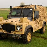 The Land Rover Snatch Vixen vehicle on show