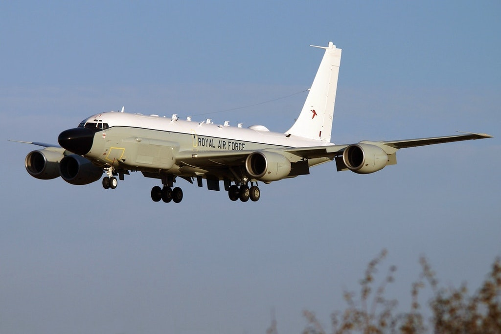 The UK's first Rivet Joint lands at RAF Waddington