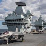 FIRST UK FIGHTER JETS LAND ONBOARD HMS QUEEN ELIZABETH