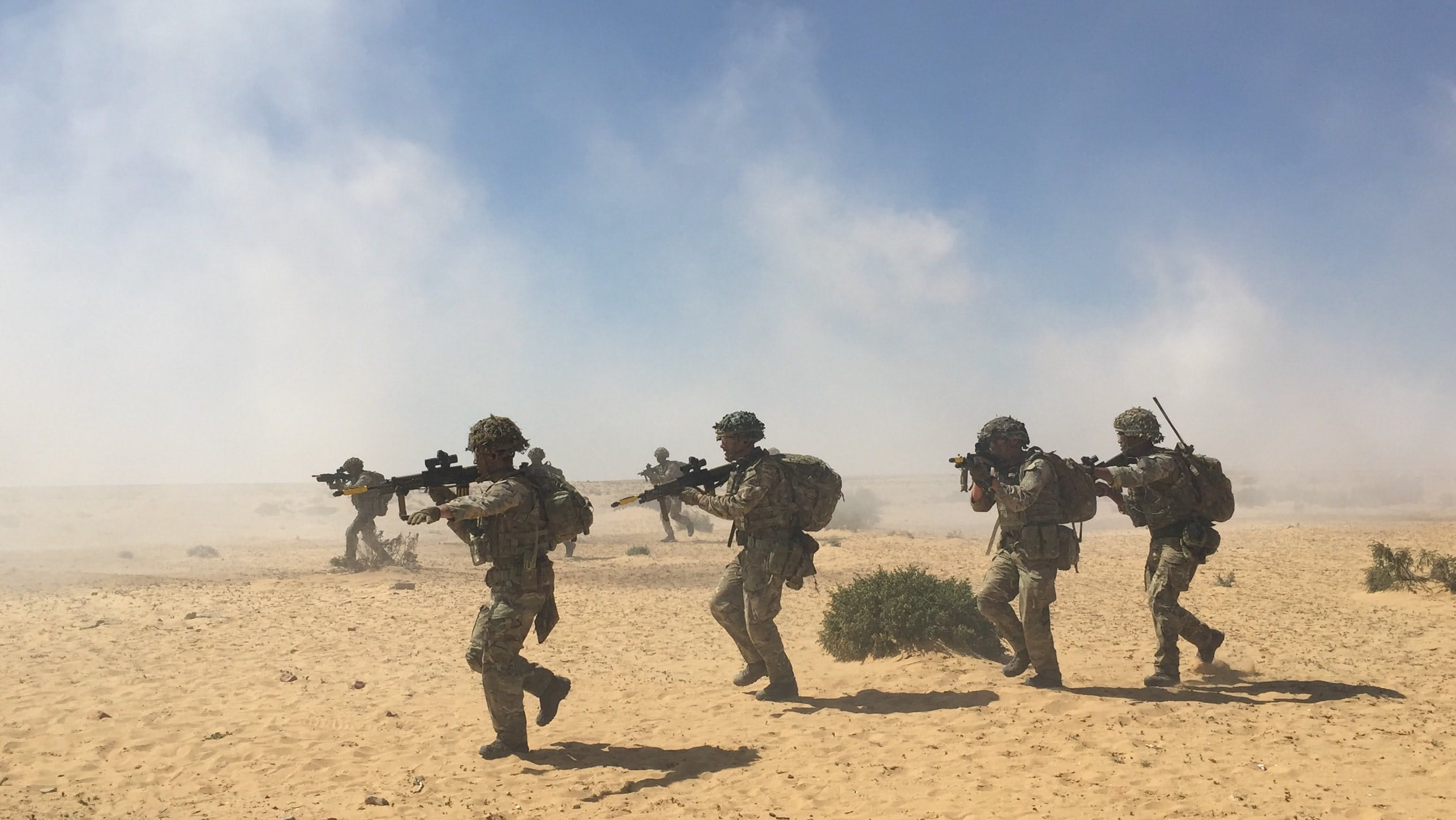 British Army on exercise in Egypt
