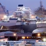 Construction of the HMS Queen Elizabeth.