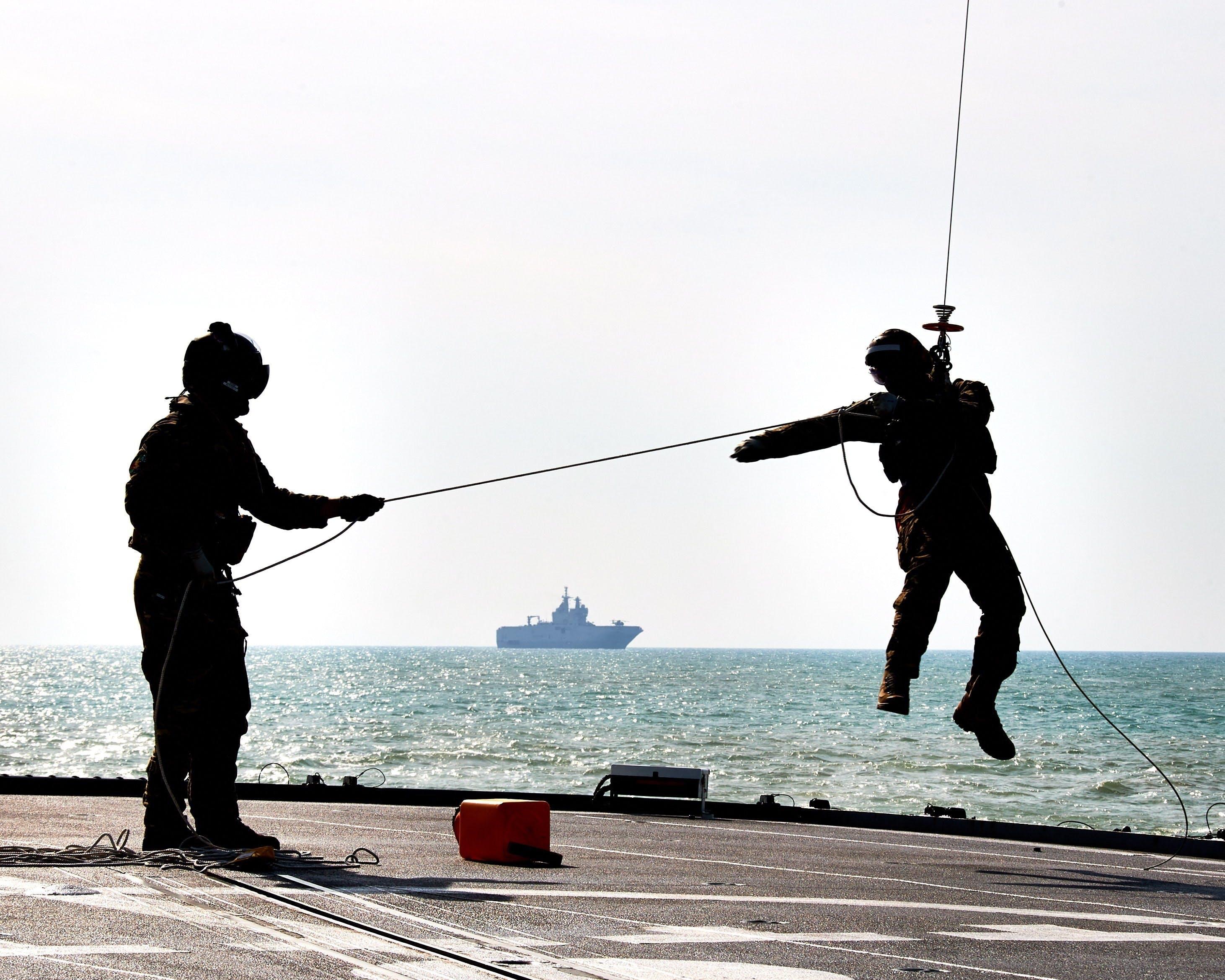 Royal Navy and Royal Marines train alongside partner naval forces