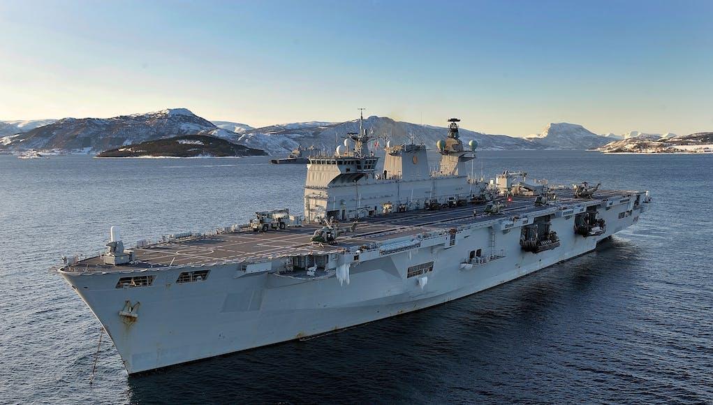 HMS Ocean in Norway