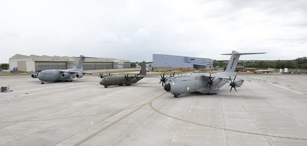 The RAF will soon operate the C-17, C-130 and A400M.