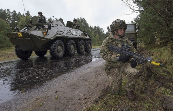 British soldiers from The Light Dragoons participated in last year's Rapid Trident exercise in Ukraine alongside military personnel from several partner nations.
