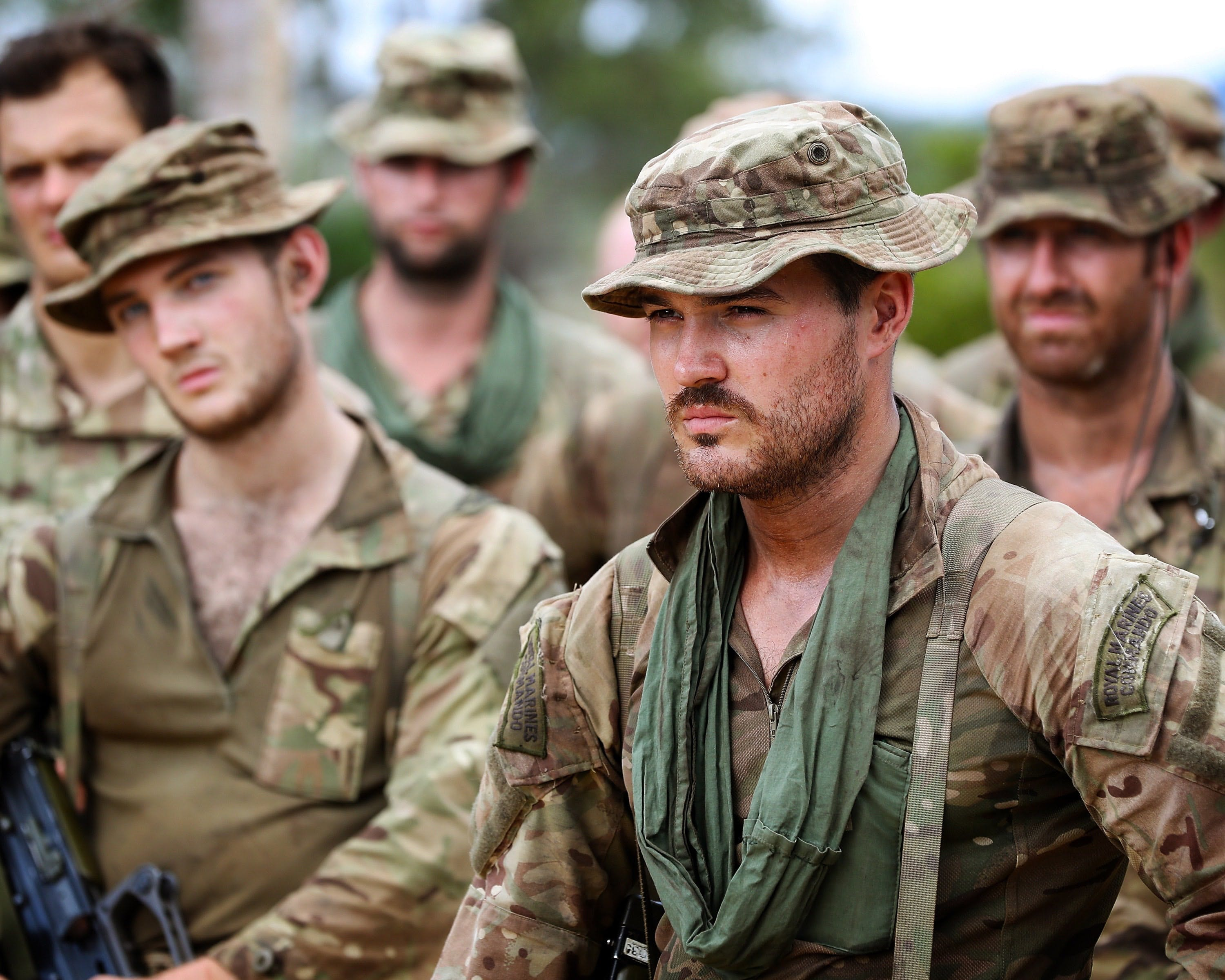 Royal Marines feel the heat in the jungle of Belize