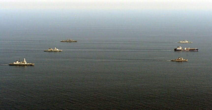 HMS Diamond begins next phase of operation to destroy chemical weapons materials