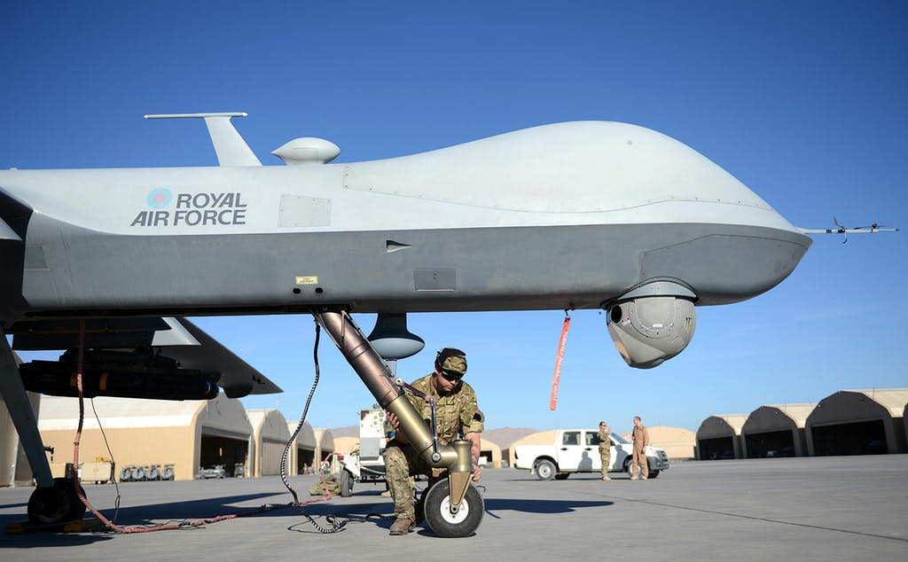 A British Reaper in Afghanistan