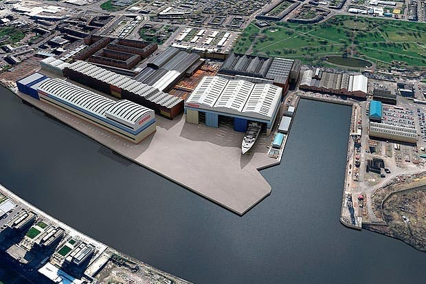 One of the options will see both Govan and Scotstoun being redeveloped, Govan is shown above.