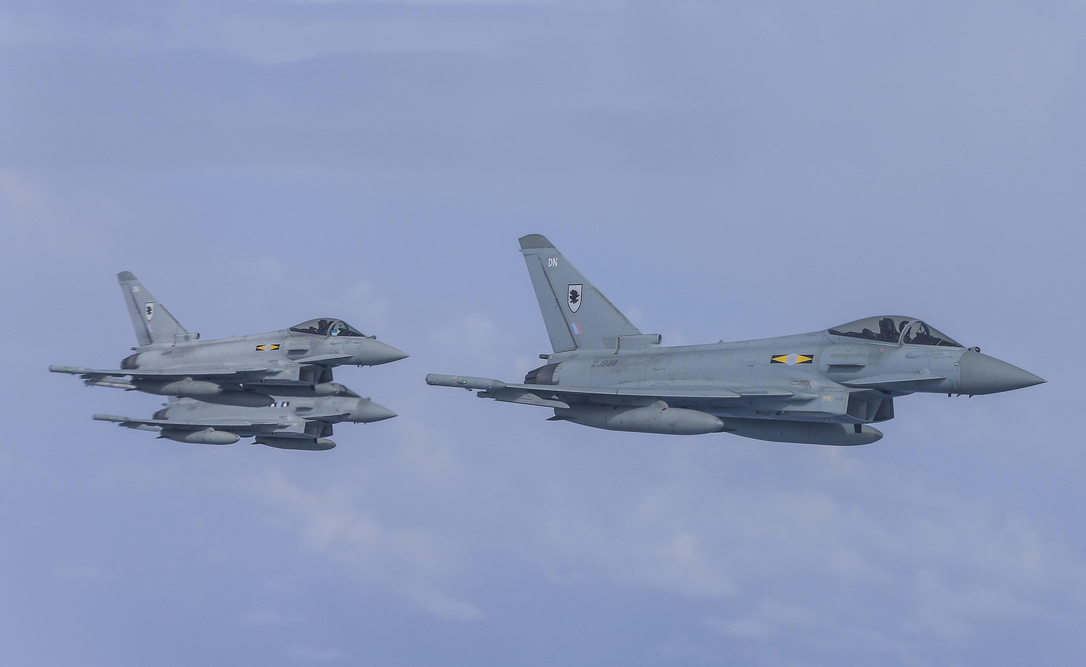 RAF Typhoons Land in Malaysia for EX Bersama Lima 16