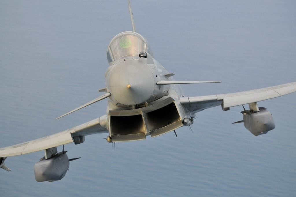 Typhoon with two Storm Shadow missiles
