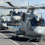 Royal Navy Melin Mk 2 Helicopters on HMS Illustrious