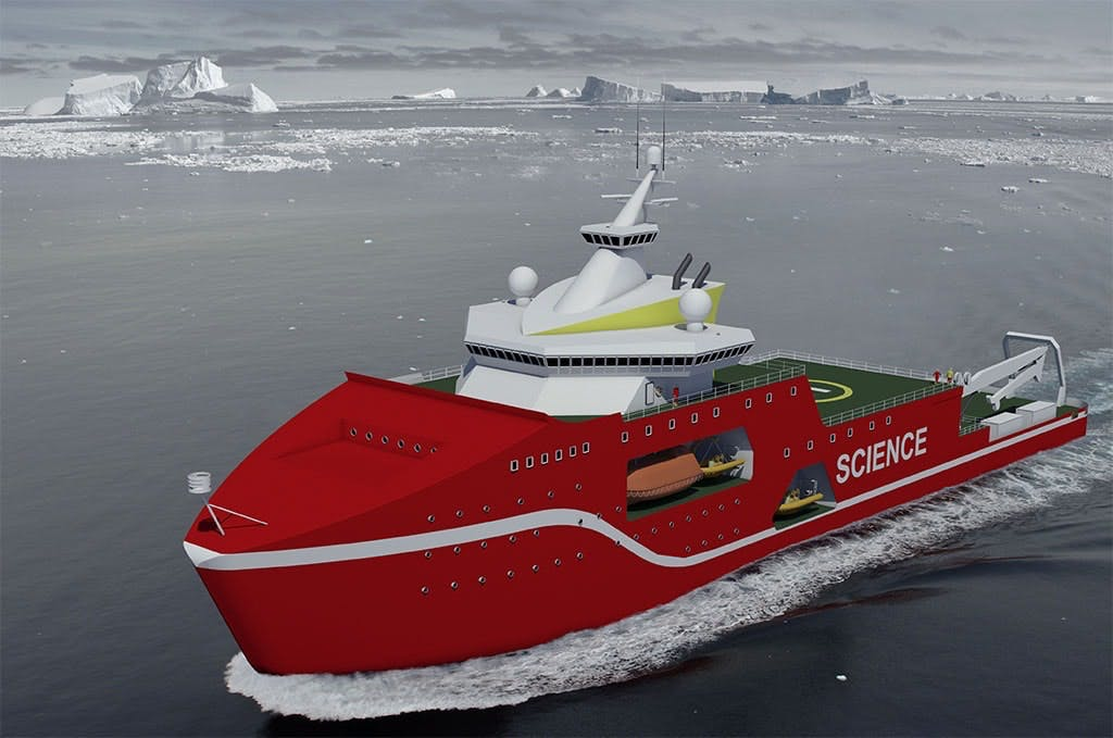 An artists impression of what the ship is expected to look like