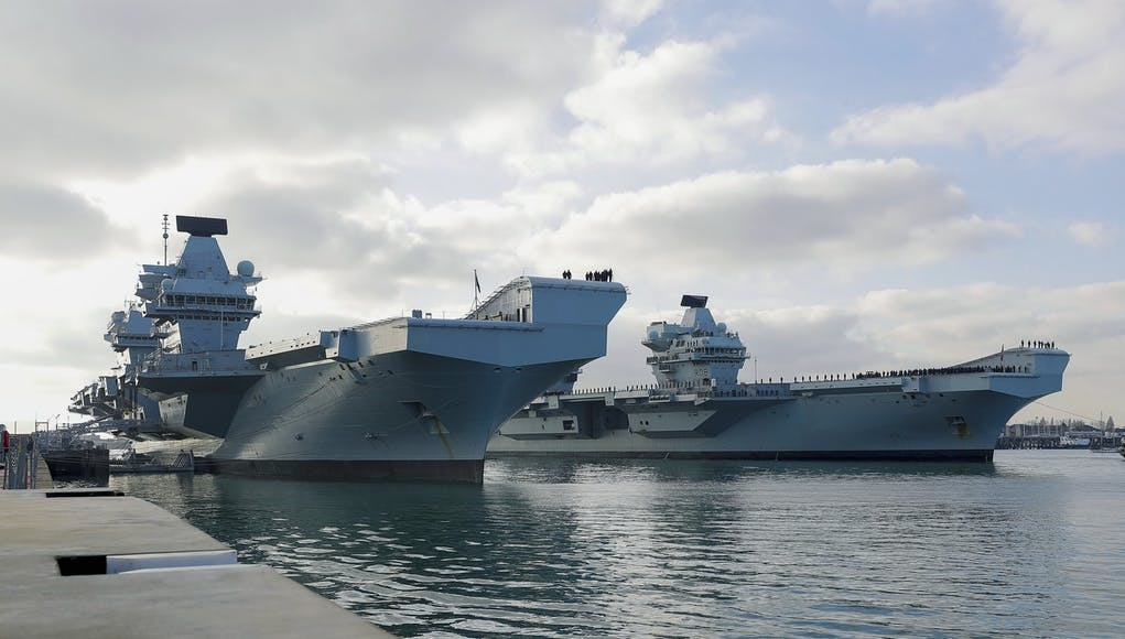 Aircraft carrier HMS Queen Elizabeth returns home