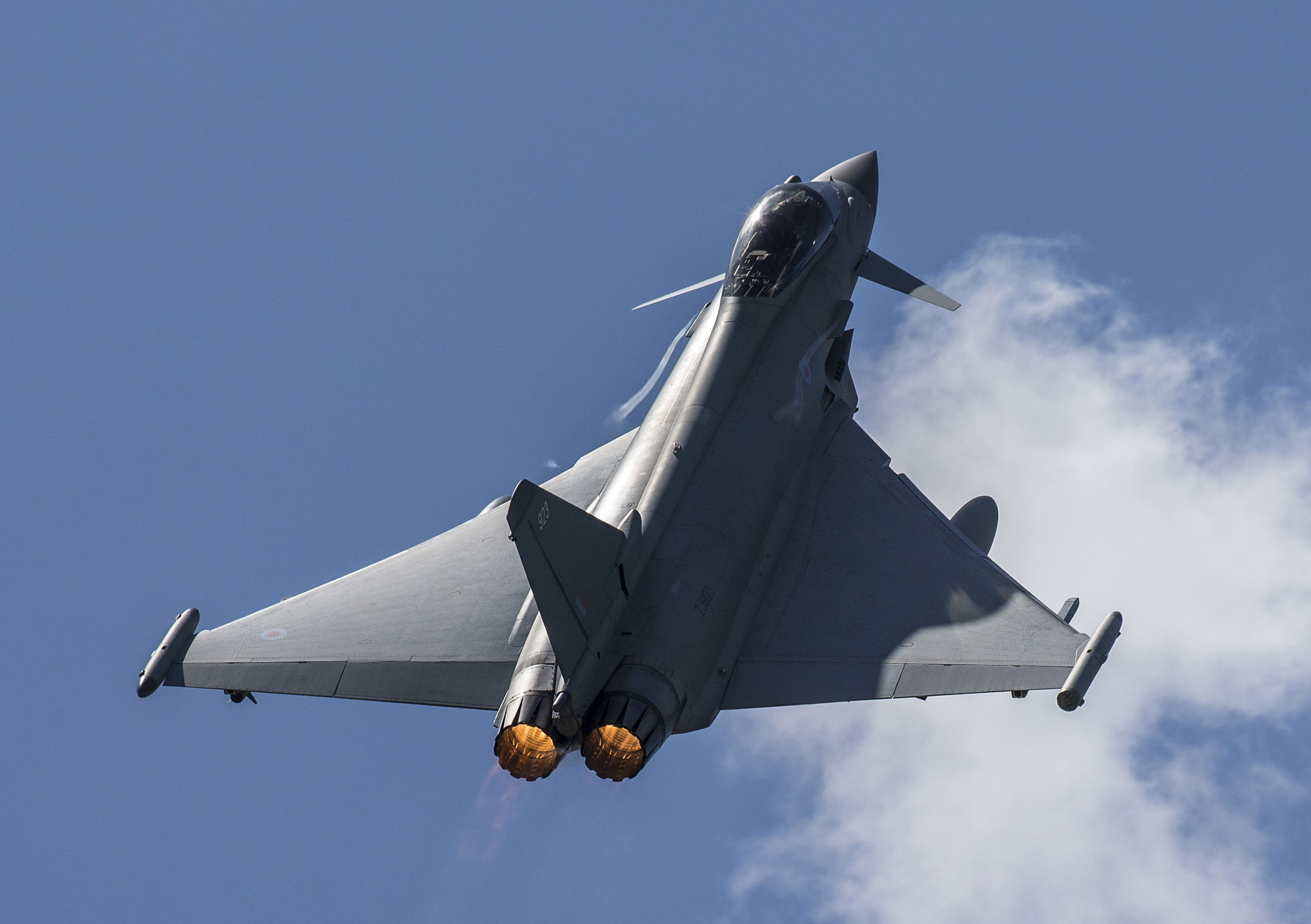 British Typhoon jets scrambled to investigate Russian aircraft near