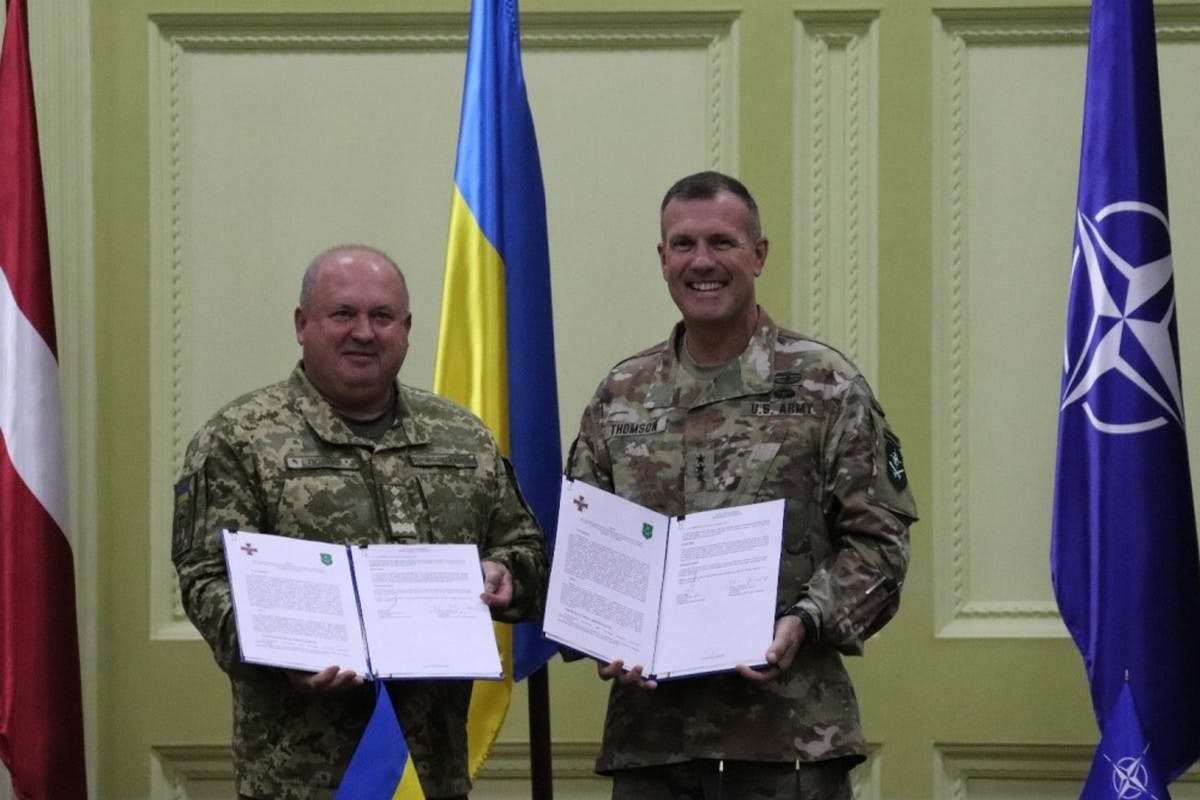 NATO signs letter of cooperation with Ukraine Land Forces Command